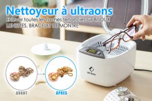 nettoyeur ultrason Floureon 850ml